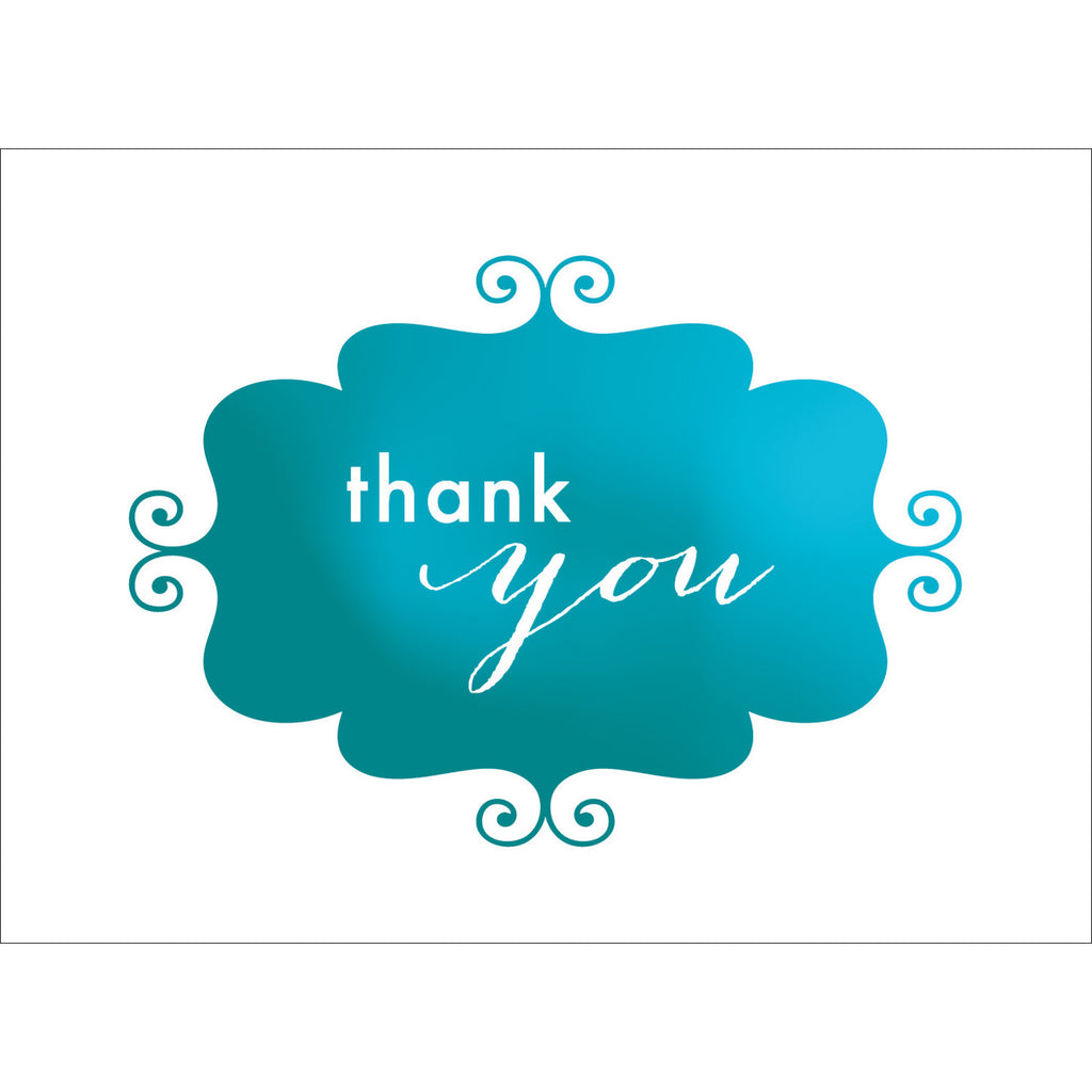Banner Thank You Note- Blue-  10 Count