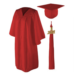 "Matte Graduation Cap and Gown Set - 4'9""-5'11"""