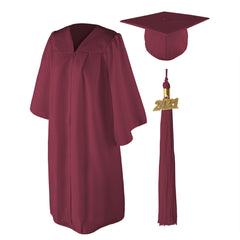"Matte Graduation Cap and Gown Set - 6'0""-6'11"""