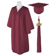 "Standard Matte Graduation Cap and Gown with Matching 2018 Tassel - Size  4'3""-4'5"""