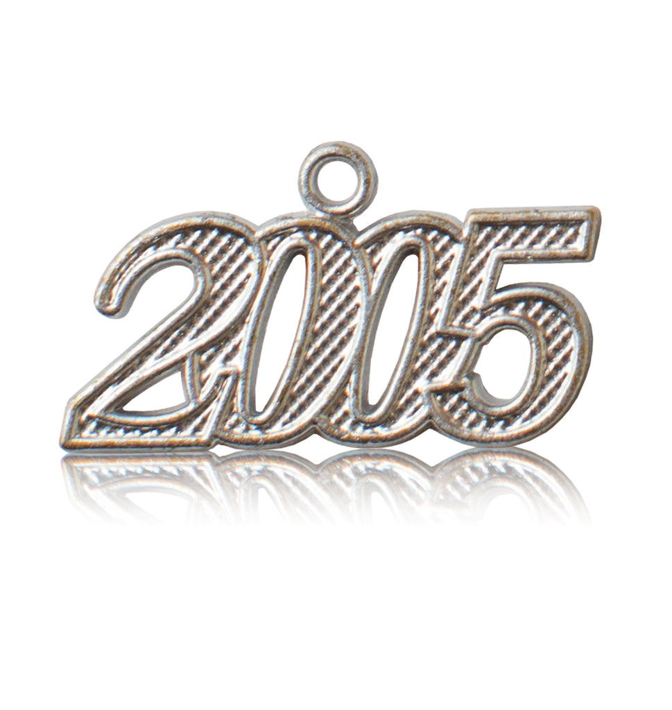 Year 2005 Silver Drop Date Signet for Graduation Tassel