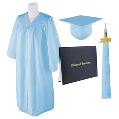 Adult Unisex Matte Graduation Cap, Gown And Diploma Cover With Matching 2019 Tassel, Large