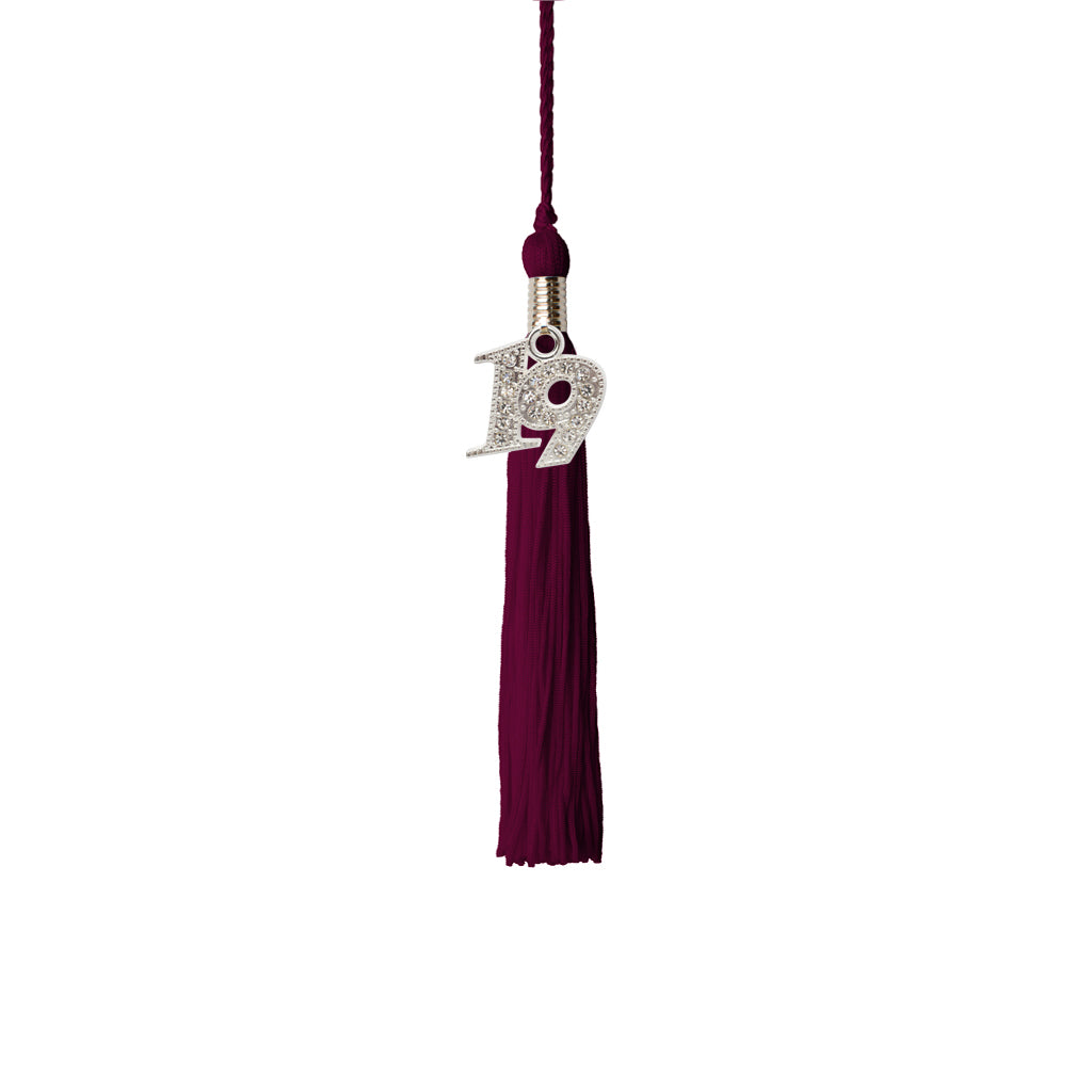 Kindergrad Tassels with 2019 Bling Charm, Single Colors