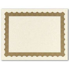 Metallic Gold Parchment Certificate  -  25 Count