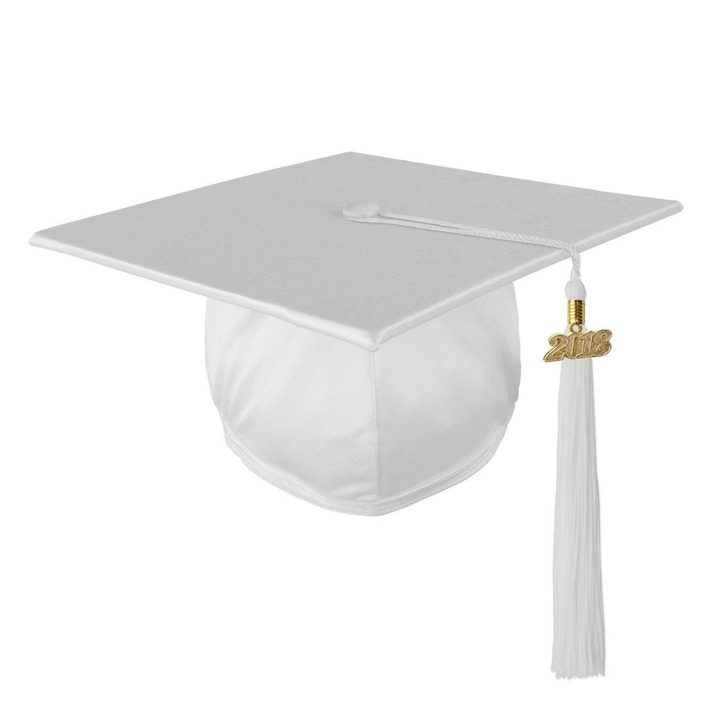 Graduation SHINY Mortar Board Cap and Matching 2018 Tassel
