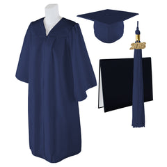"Standard Matte Graduation Cap, Gown and DIPLOMA Cover with Matching 2018 Tassel - Size  Plus 1 4'9""-5'5"" Over 220 lb."