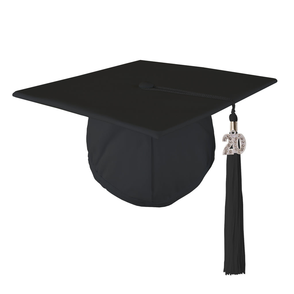 Class Act Graduation Standard Unisex Adult Size Graduation Cap and Tassel with 2020 Bling Charm