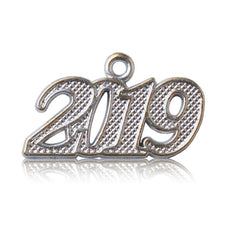 Year 2019 Silver Drop Date Signet for Graduation Tassel