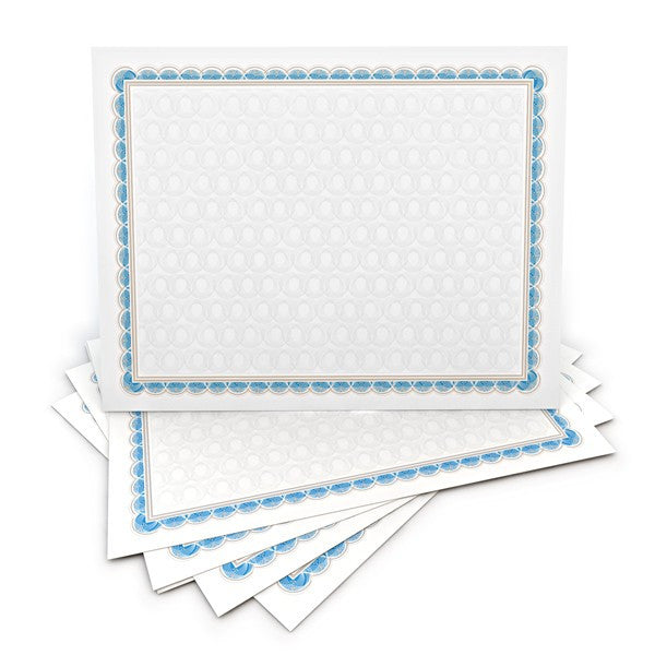 Blue Border with Pattern Certificate  --  100 Count