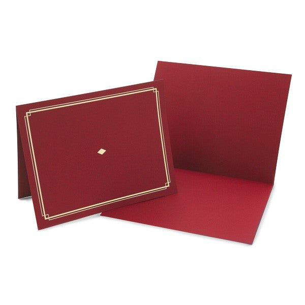 Red Award Certificate Holder  -  6 Count