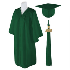 "Standard Matte Graduation Cap and Gown with Matching 2018 Tassel - Size  5'0""-5'2"""