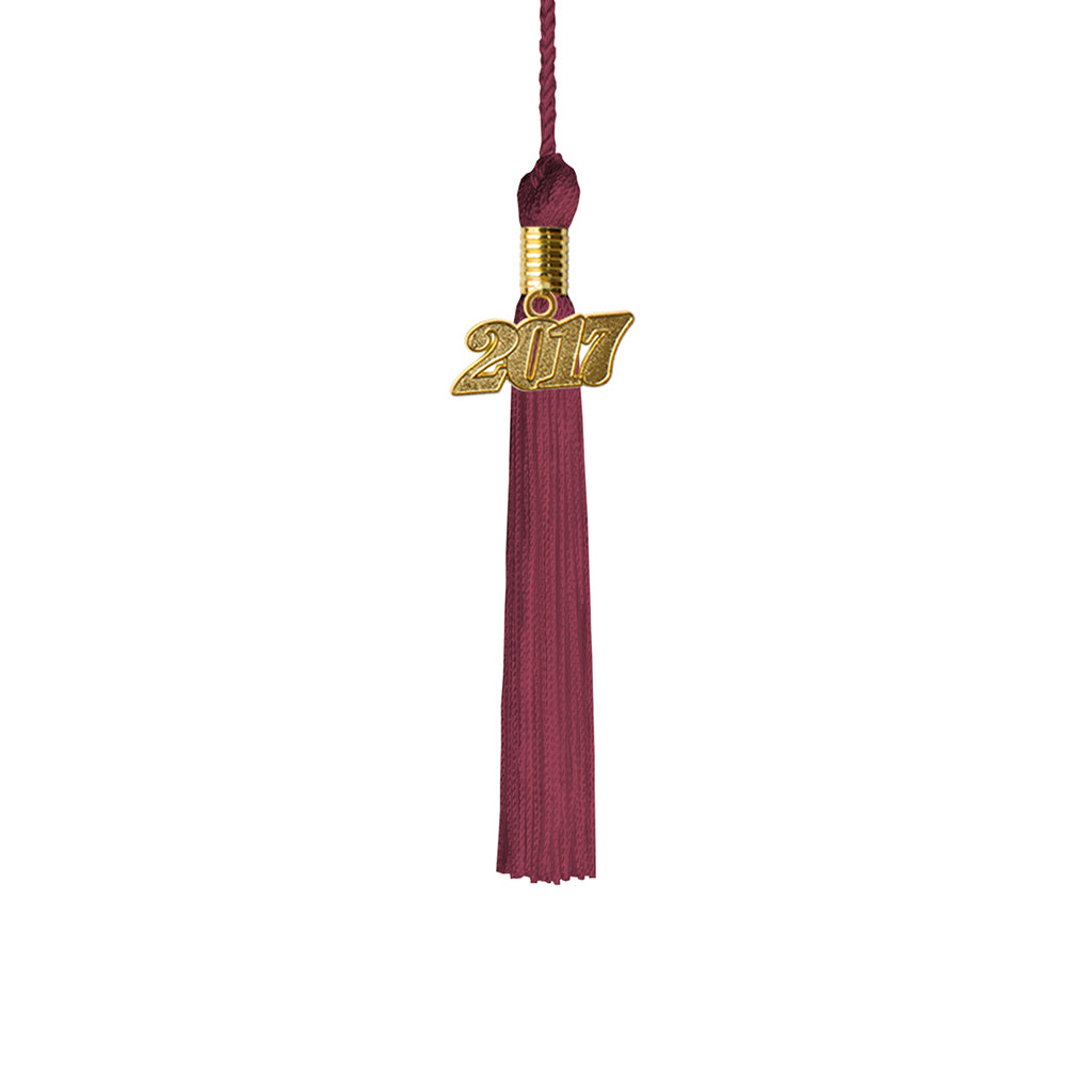 Kindergarten Graduation Tassel Year 2017 with gold charm