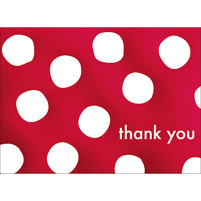 Big Dots Thank You Note- Red-  10 Count
