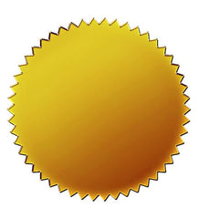 Gold Foil Certificate Seals  - 50 Count