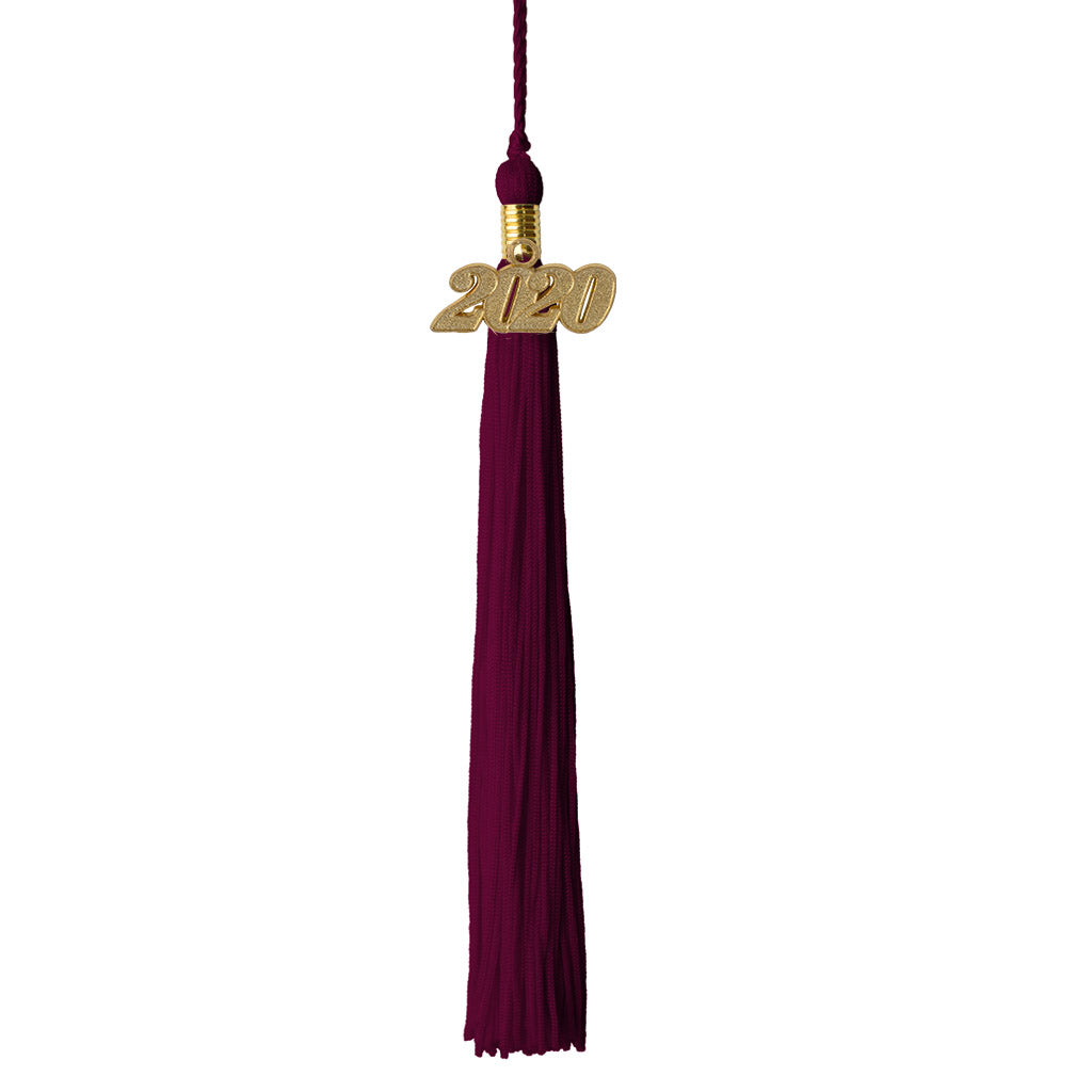 Class Act Graduation Premium Solid Color Graduation Tassel with 2020 Gold Charm