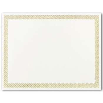 Gold Foil Braided Border Certificate  -- 15 Certificate Pack