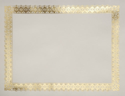 Gold Foil Border Certificate  -- 15 per pack