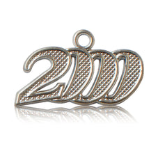 Year 2000 Silver Drop Date Signet for Graduation Tassel