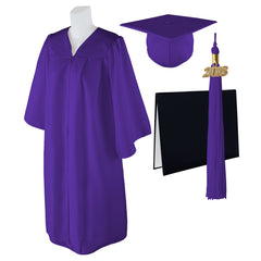 "Standard Matte Graduation Cap, Gown and DIPLOMA Cover with Matching 2018 Tassel - Size  5'6""-5'8"""