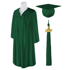 Adult Unisex Shiny Graduation Cap and Gown with Matching 2019 Tassel, Large