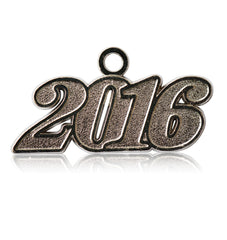 Year 2016 Silver Drop Date Signet for Graduation Tassel