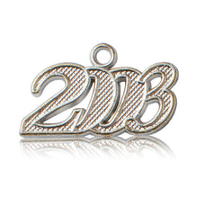 Year 2003 Silver Drop Date Signet for Graduation Tassel