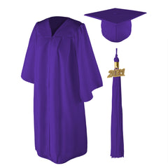 Matte Graduation Cap and Gown Set - Plus/Full Figured
