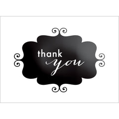 Banner Thank You Note- Black-  10 Count