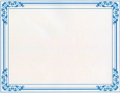 Blue Floral Certificates  --  25 Count