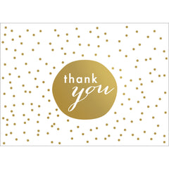 Tiny Dots Thank You Note- Gold-  10 Count
