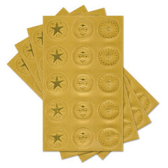 Gold Foil Certificate Seals Stickers - 60 Count