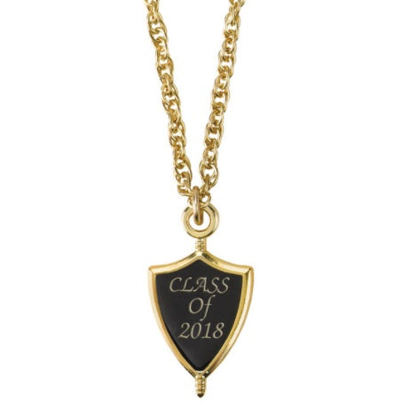 Class of 2018 Graduation Senior Key Necklace Gold