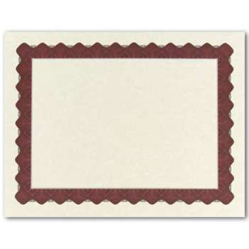 Metallic Red Parchment Certificate  -  100 Count