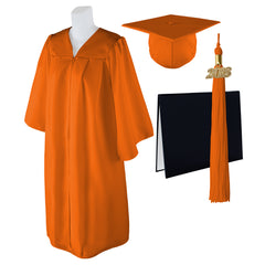 "Standard Matte Graduation Cap and Gown with Matching 2018 Tassel Size  5/'6/""-5/'"