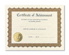 Certificate of Achievement  --  6 sheet pack
