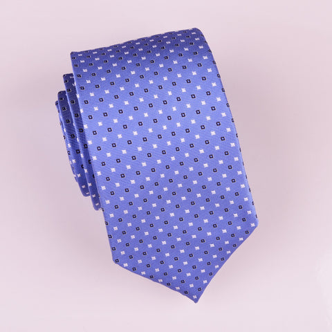 "B2B Shirts - Light Blue Skinny Woven Tie with Contrast Studs Luxury Fashion 3"" - Business to Business"