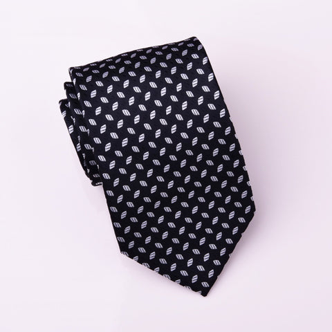 B2B Shirts - Almond Football Luxury Designer Black Stylish Regular Woven Tie 8cm - Business to Business