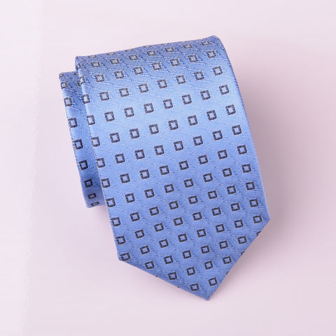 "B2B Shirts - Light Blue Amazing Diamond in DNA Strand Designer Regular Tie 3"" - Business to Business"