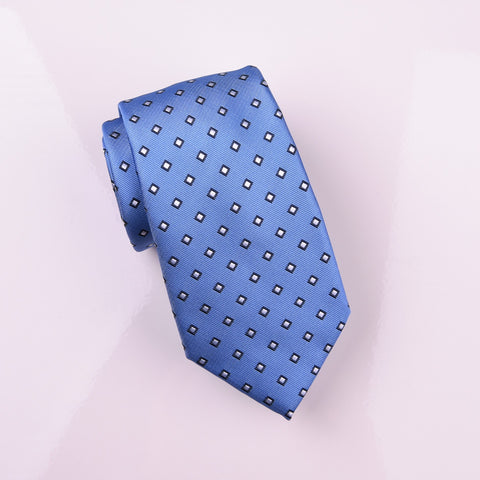 "B2B Shirts - Classic Light Blue Diamond Square Super Match Pairing Skinny Tie 3"" - Business to Business"