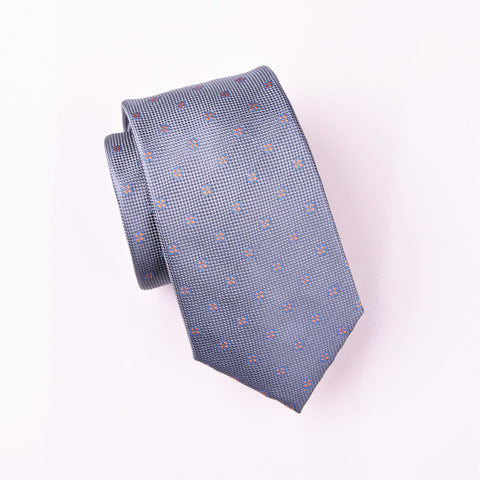 "B2B Shirts - Lucky Orange Irish Clover Grey Geometric Floral Modern Tie 3"" - Business to Business"
