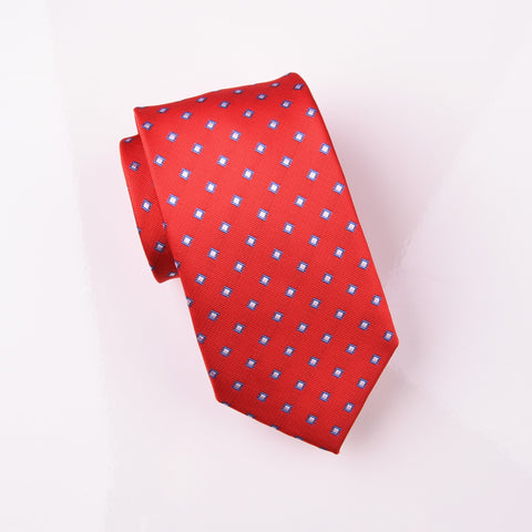 Blue Frosted Sparking Diamond Red Luxury Woven Tie 3""