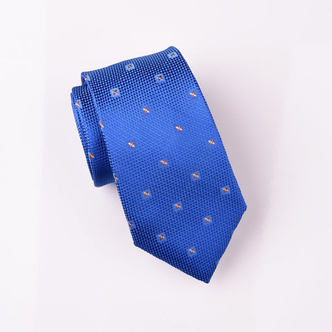 "B2B Shirts - Brown Jack Spinning Diamond Top Designer Blue Skinny Tie 3"" - Business to Business"