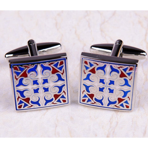 Royal In & Out Baroque Designer Square Mens Cufflinks Australia
