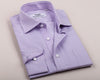 B2B Shirts - Lavender Lilac Twill Striped Formal Business Dress Shirt Royal Oxford Designer Fashion - Business to Business