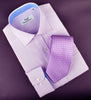 B2B Shirts - Lilac Designer Twill Formal Business Dress Shirt Blue Twill Inner-Lining Fashion - Business to Business