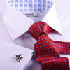 B2B Shirts - The White Herringbone Formal Business Dress Shirt Blue Fleur-De-Lis Fashion - Business to Business