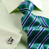 B2B Shirts - Lime Green Herringbone Twill Formal Business Dress Shirt in French Cuffs - Business to Business