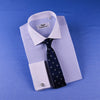 New Light Blue Dress Shirt Dignified Herringbone Twill Formal Business French Cuff