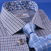Multi-Colored Green Plaids & Checks Dress Shirt Business Formal Paisley Floral in French Cuffs