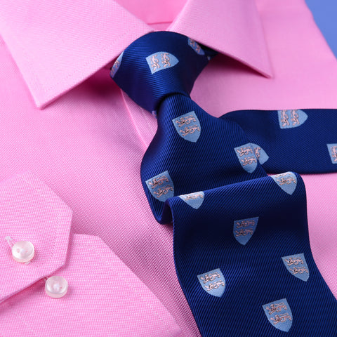 Pink Oxford Formal Business Dress Shirt Spread Collar Button Cuffs Limited Stock in Single Button Cuffs